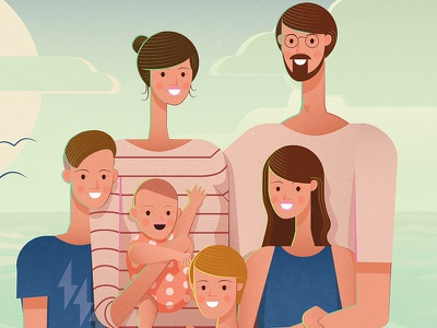 The oliviers vector family people portrait