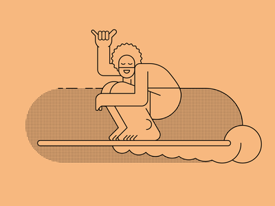 Surf holiday shaka surfing surf illustration vector characters people