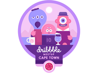 Dribbble Meetup Badge Oct 18