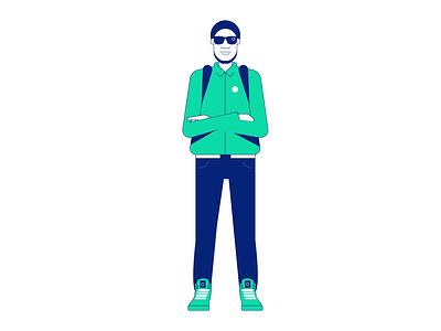 Boom bap illustration workforce branding logo styletest vector style retro characters people