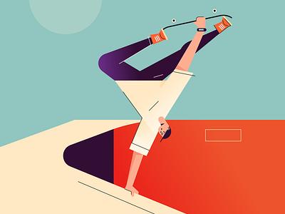 poolfool vector character vans xgames extreme sport skateboard skate skating