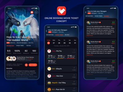 Movie Details Concept ui  ux design movie booking movie app