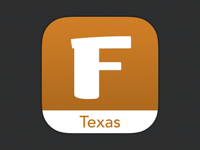 Texas FanGuide iOS app icon ios icon sports football texas