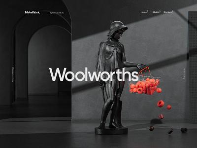 MakeReign - Project Headers concept sculpture design ui composition cinema4d minimal website abstract cgi render 3d