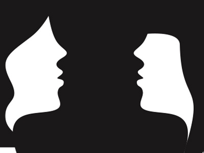 mirror faces 2 shape girl woman flat face