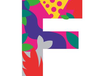 F illustration children book alphabet letter