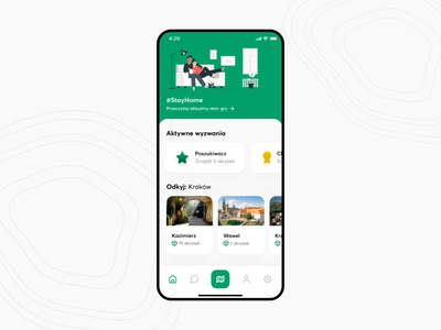 Geocaching Redesign Concept ux  ui digital illustration interactions map adventure discovery geocaching ui design redesign mobile app mobile ui