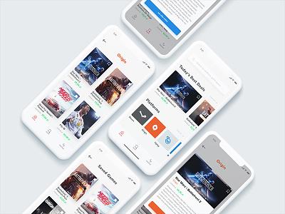 Game Deals Concept — app games deal platform game app mobile ui clean