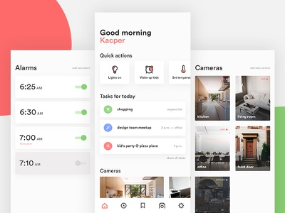 Wake Up Screen Concept — app wake up dashboard home mobile ui mobile design