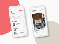 Podcast App Concept — discover & profile