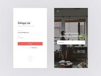 Log in & Landing Screen — Real estate concept app
