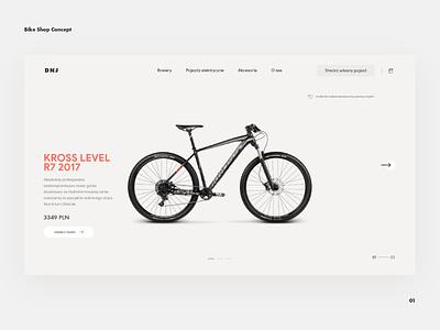 Bike Shop Concept — website design ui clean buy bicycle bike e-commerce website desktop