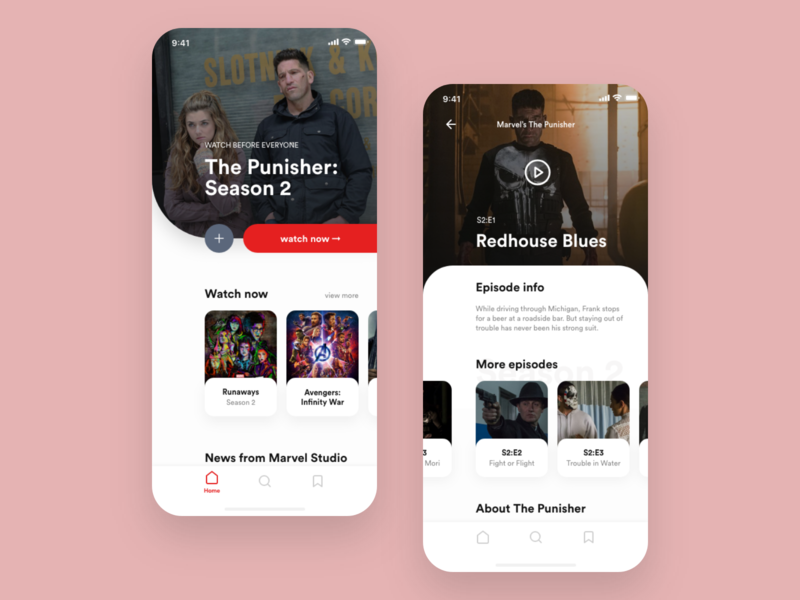 Weekly Design #2 — Streaming Service on demand streaming streaming app marvel movie design concept app mobile ui
