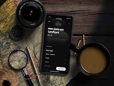 Music Albums Shop ― Concept App concept practice uipractice shop music mobile app mobile ui