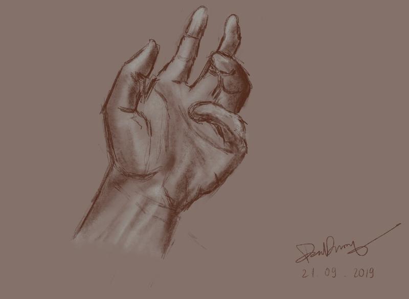 Hand Drawing digital art hand illustration