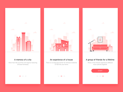 Homestay guide page illustration page guide homestay