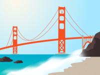 Golden Gate Bridge (view from Baker Beach)