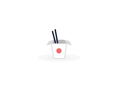 Take Out Box with Chopsticks chopsticks box take-out