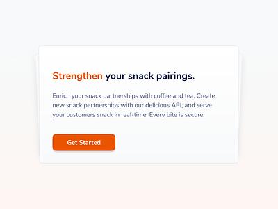 Will design for snacks highlight gradient card