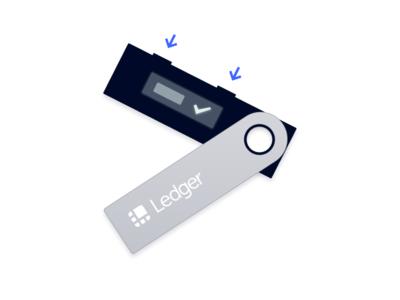 Ledger Nano S Illustration hardware wallet crypto illustration blockchain ledger