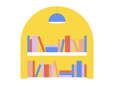 What does your community look like? config2020 figma illustration light shelves books library