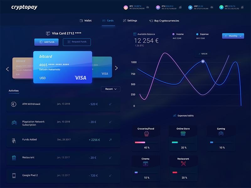 Crypto App Design Concept