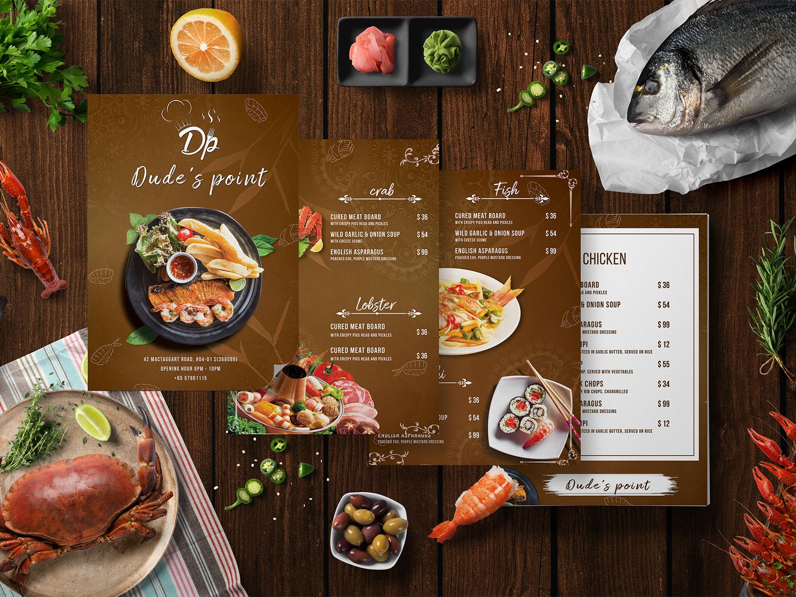 restaurant menu card design unique and creative ideas