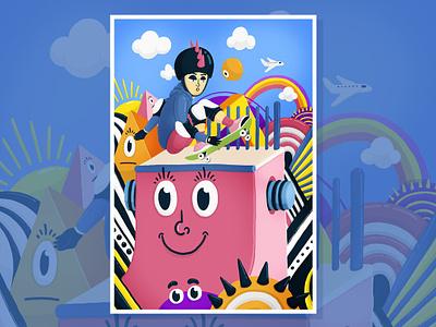 Skater tonyhawk skater skate design digital illustration art digital 2d dibujo photoshop illustration colors