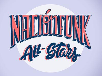Nacion Funk design digital 2d illustration art illustration logo 2d nacionfunk photoshop lettering logo