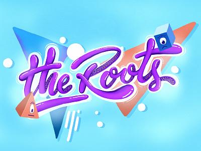Theroots Lettering typography illustration digital branding logo digital 2d colors handlettering photoshop letters lettering theroots