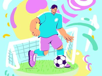 Football Player characterdesign character design dibujo illustration art digital photoshop illustration digital 2d colors