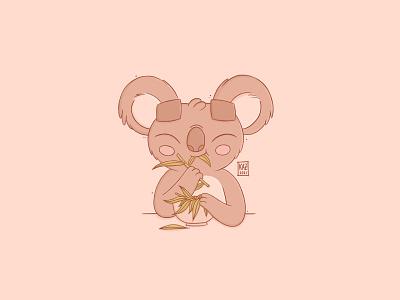 Oishii     Delicious cute ipadpro procreate art kidlit design digital art kawaii procreate cartoon illustration character design bear koala