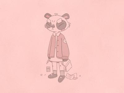 Over It // Panda Schoolgirl