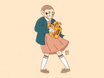 Eleven // Stranger Things Fan Art kazmology girl procreate digital-art character-design illustration millie-bobby-brown stranger-things-fan-art stranger-things fanart eggos eleven strangerthings