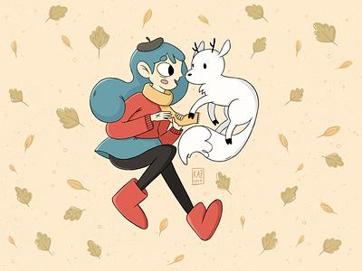 It's Hilda! kidlit cartoon animation hilda-tv-show character-design netflix-fanart fanart hilda-fanart netflix hilda