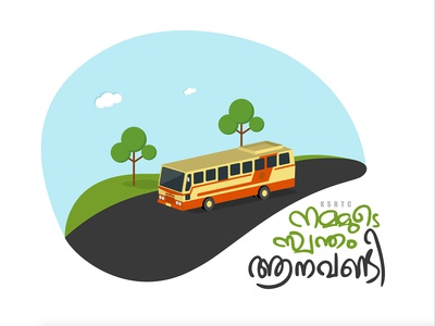 Illustration - Kerala State Road Transport Bus