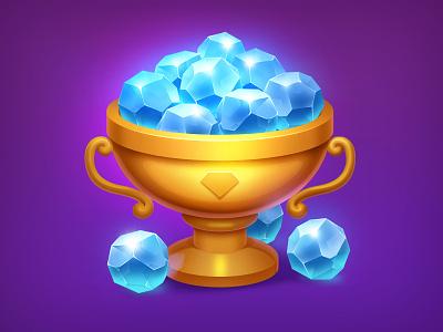 Gem Icon trophy cup icon diamond shop illustration game gem sapphire stone ruby