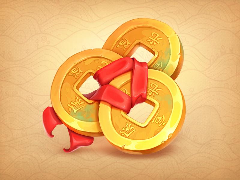 Coins Slot Symbol by NestStrix Art for NestStrix Studio on