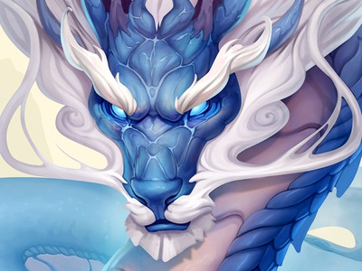 Dragon Character theme. chinese ios concept object game symbol slot dragon blue character