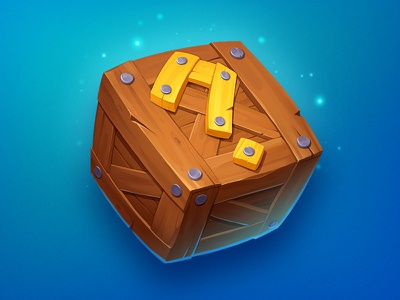 Mystery Box asset illustration concept element powerup box loot mystery icon object game