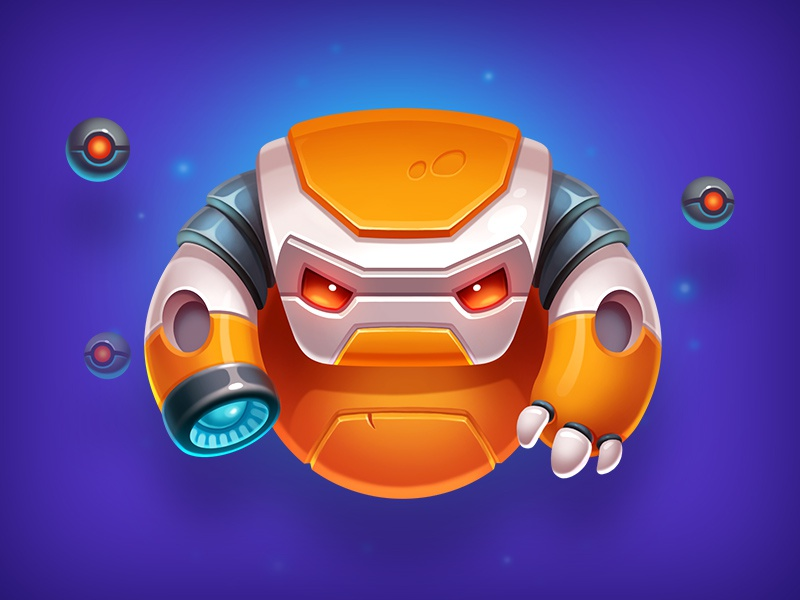 Robot Character robotics mechanics machine illustration mecha game cute character robot