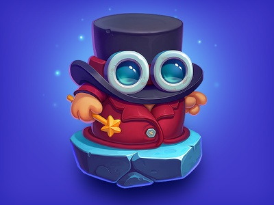Brofix Wizard magician hat costume outfit hero art gameart magic wizard cute character game