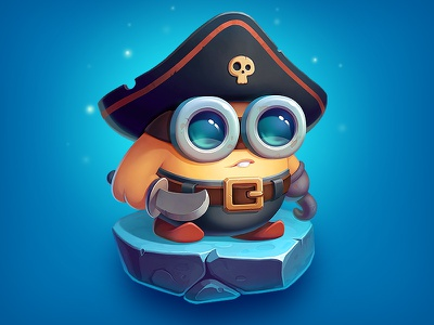 Brofix Pirate skull costume outfit hero illustration art gameart sword pirate cute character game