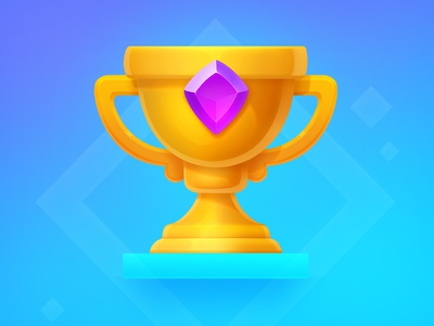 Golden Cup victory champion celebration completed trophy object win achievement gem icon cup
