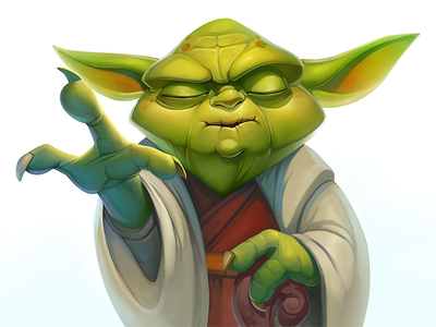 Star Wars Yoda illustrator 2d character illustration disney fanart artwork artist force starwars jedi master yoda photoshop design art