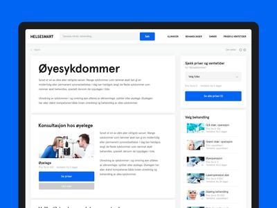 Helsesmart Website - Single Page