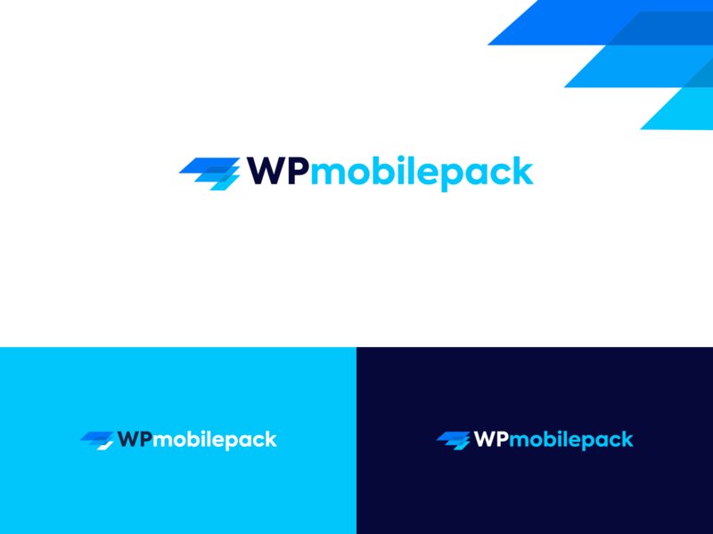 WPmobilepack logo logodesign logos desktop colorfull mobiledesign mobile wordpress wp layers blue branding vector redesign logo
