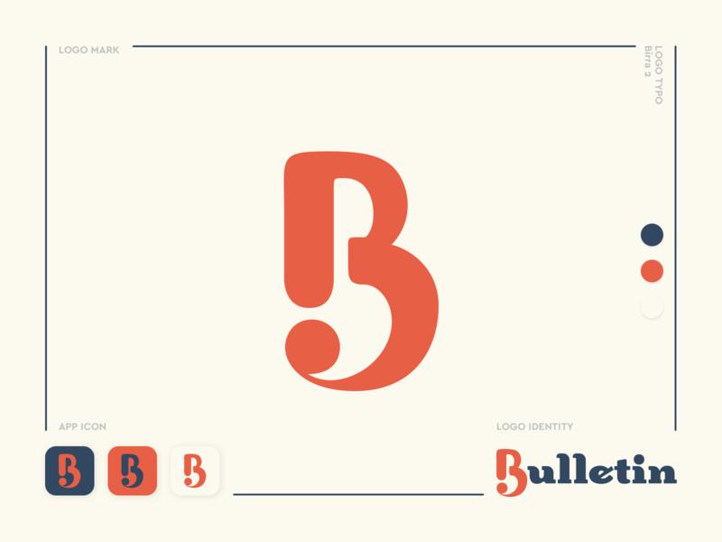 Bulletin typogaphy type wordmark typeface lettermark serif font oldskool vintage logotype vector logo design logo