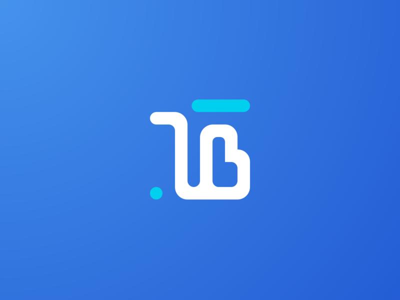 T B initials tb logo t logo b logo brand blue initials typography icon branding logo vector design