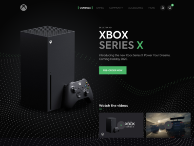 Xbox Series X shop racing car concept console game ecommerce webdesign ux ui ui ux desktop design xbox